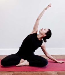 Yoga teacher Naomi Reynolds