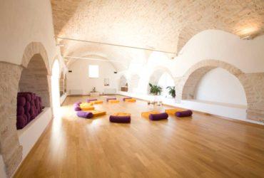 Vaulted yoga studio