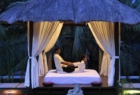Spa interior and outside massage pagoda