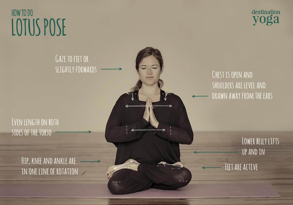 How to do: Lotus Pose - Yoga Instructions | Destination Yoga