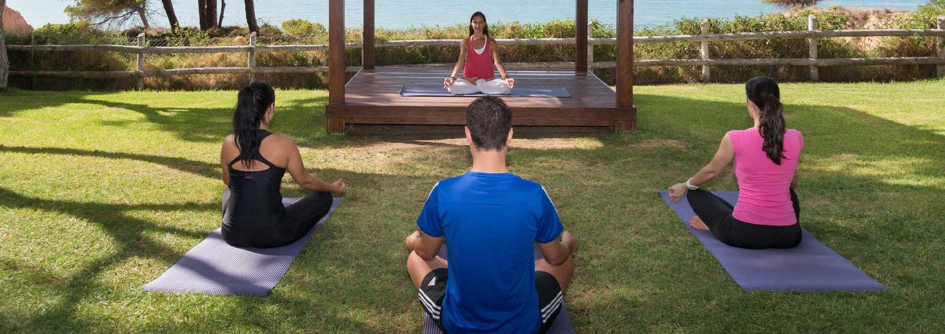yoga with an ocean view at Pine Cliffs