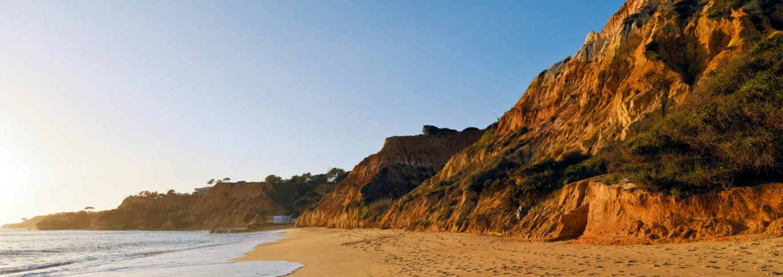 gorgeous sandy beach at pine cliffs