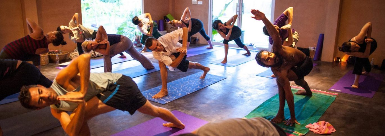 Yoga class at Navutu Dreams, Cambodia