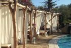 Poolside shade at Galanias, Sardinia