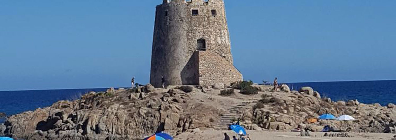 Tower on the beach at Galanias, Sardinia