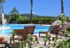 Relaxing by the pool at Galanias, Sardinia