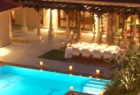 The pool at night at Shreyas India