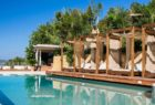 Poolside cabanas at F-Zeen Kefalonia Greece