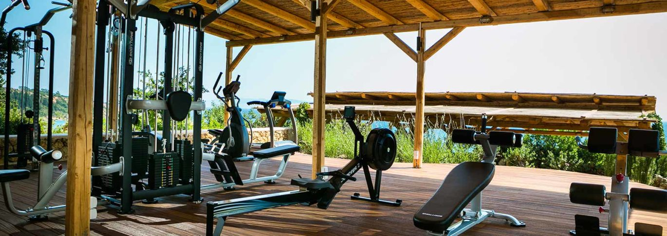 Gym terrace at F-Zeen, Kefalonia Greece