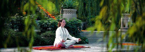 Meditation at Ananda India