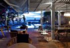 Restaurant at dusk at F-Zeen Kefalonia Greece