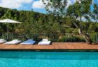 View from pool to olive groves at Can Lluc