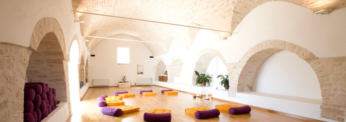 Yoga studio at La Rosa Puglia