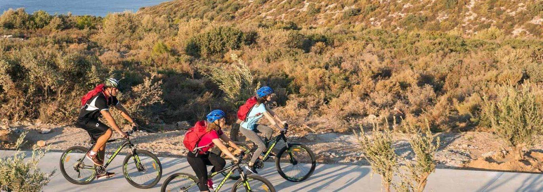 Cycling on mountain roads near Kaplankaya
