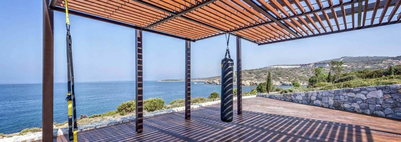 Fitness training terrace at Kaplankaya