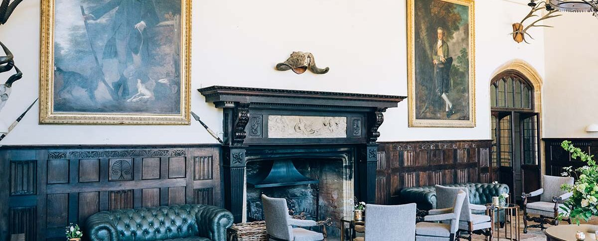 Brympton House room with a fireplace