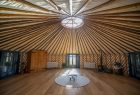 Mongolian yurt at 42 acres